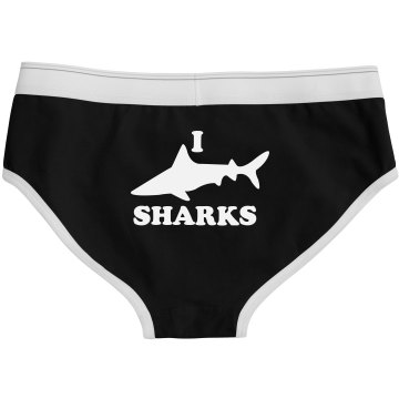 I Love Sharks Bella Logan Boyfriend Brief