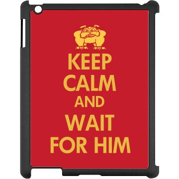 Keep Calm Marines Black iPad Snap-on Case