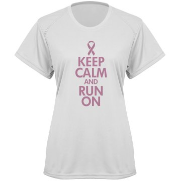 Keep Calm &amp; Run On Paragon Women&#x27;s Performance Tee