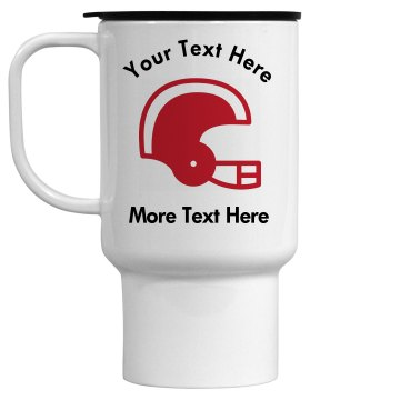 Football Helmet 15 oz Travel Mug