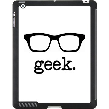 Geek Glasses iPad Case Black iPad Smart Cover