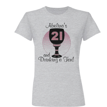 21st Birthday Party Junior Fit Basic Bella Favorite Tee