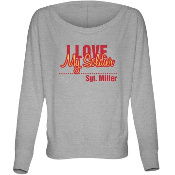 Love My Marine Misses Bella Flowy Lightweight Relaxed Dolman Tee