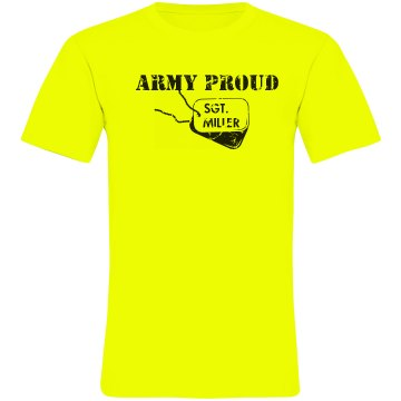 Army Proud Unisex American Apparel Neon Crew Neck Tee