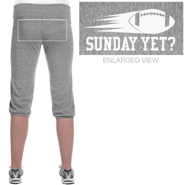 Sunday Football Yet? Junior Fit Soffe Fleece Capri