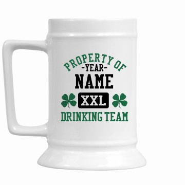 St. Patrick's Drink Team 16oz Ceramic Stein