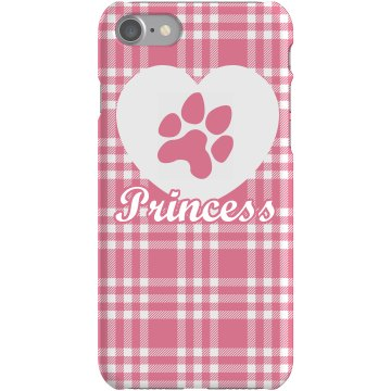 Dog or Cat Love Plaid Plastic iPhone 5 Case White