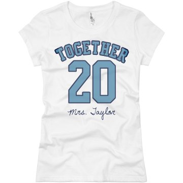 Mrs And Mr Tee Junior Fit Basic Bella Favorite Tee