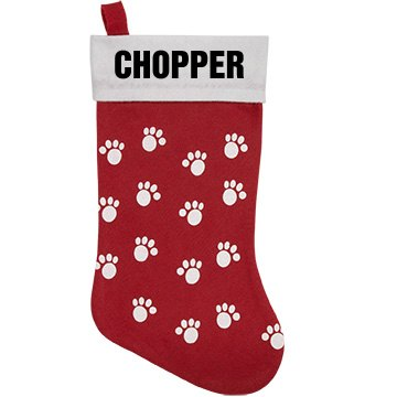 Chopper Pet Stocking Personalized Pet Stocking