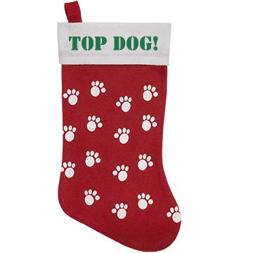 Top Dog Stocking Personalized Pet Stocking