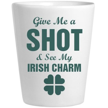 Irish Charm Shot Glass Ceramic Shotglass