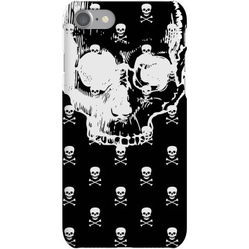 Skull iPhone Case Plastic iPhone 5 Case Black