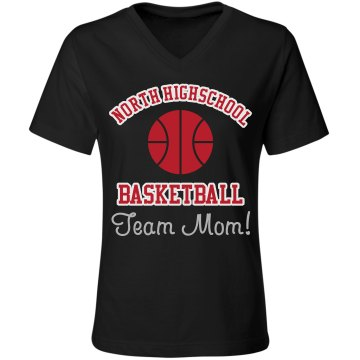 Team Mom Rhinestones Misses Relaxed Fit Gildan Ultra Cotton Tee