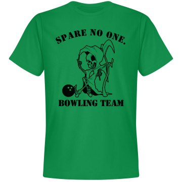 Spare No One Bowling Tee Unisex Gildan Heavy Cotton Crew Neck Tee