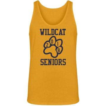 Senior Grad School Mascot Junior Fit Bella 1x1 Rib Ringer Tee