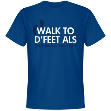 ALS Walk Tee Unisex Gildan Heavy Cotton Crew Neck Tee