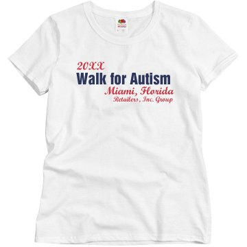 Walk For Autism Misses Relaxed Fit Gildan Ultra Cotton Tee
