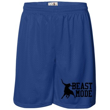 Bull Beast Mode Unisex Badger 11'' Inseam Pro Mesh Tricot Shorts