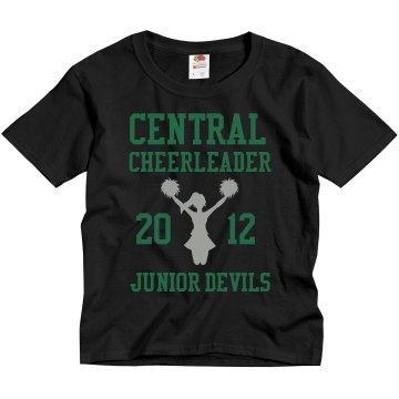 Junior Devils Cheer Youth Gildan Ultra Cotton Crew Neck Tee