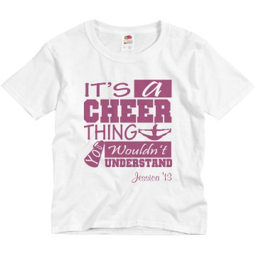 Cheer Thing With Name Youth Basic Gildan Ultra Cotton Crew Neck Tee