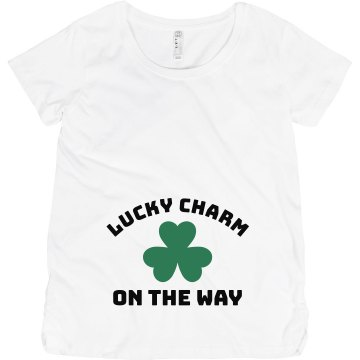 Lucky Charm On The Way Maternity LA T Sportswear Tee