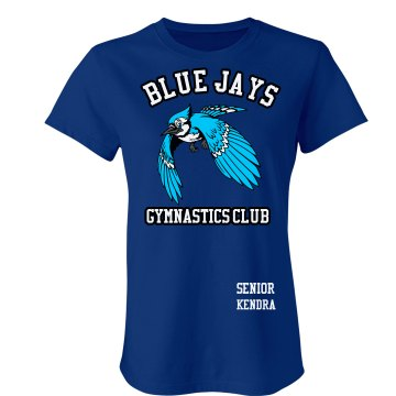 Blue Jays Gymastics Junior Fit Bella Crewneck Jersey Tee