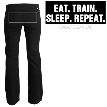 Eat, Train, Sleep, Repeat Junior Fit Soffe Yoga Pants