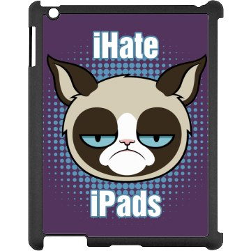 iHate iPads Black iPad Snap-on Case