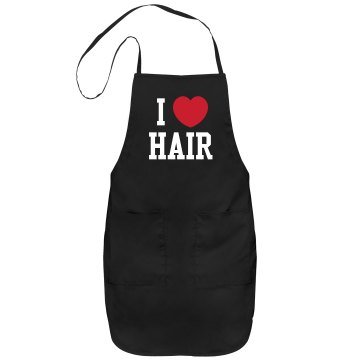 I Love Hair Port Authority Adjustable Full Length Apron