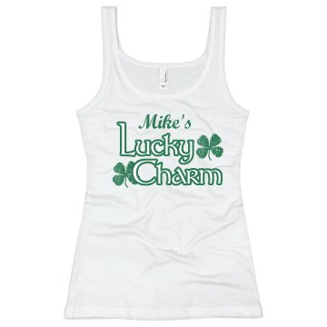 Mike's Lucky Charm Junior Fit Bella Sheer Longer Length Rib Tank Top