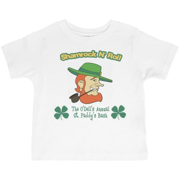 Shamrock N' Roll Toddler Basic Gildan Ultra Cotton Crew Neck Tee
