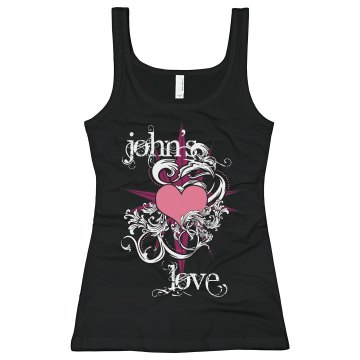 John's Love Junior Fit Bella Sheer Longer Length Rib Tank Top