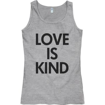 love is kind Junior Fit Bella Sheer Longer Length Rib Tank Top