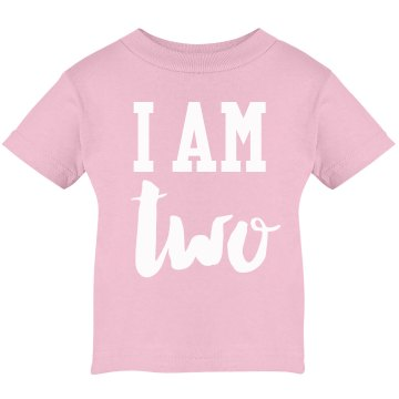 I Am Two! Birthday Shirt Infant Rabbit Skins Lap Shoulder Tee