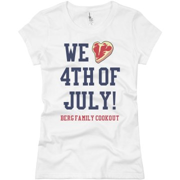 Berg Family Cookout Junior Fit Basic Bella Favorite Tee