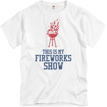 Fireworks Show Unisex Basic Gildan Heavy Cotton Crew Neck Tee