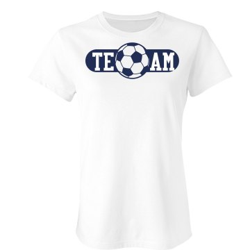 Team Soccer Tee Junior Fit Bella Sheer Longer Length Rib Tee