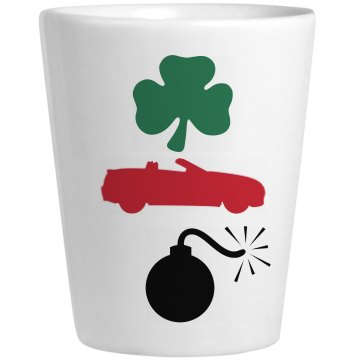 Irish Car Bomb Shot Ceramic Shotglass