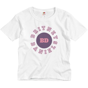 Name & Initials Tee Youth Basic Gildan Ultra Cotton Crew Neck Tee
