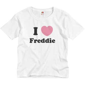I love Freddie Youth Basic Gildan Heavy Cotton Crew Neck Tee