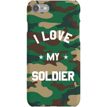 I love My Marine Dog Tag Plastic iPhone 5 Case White 