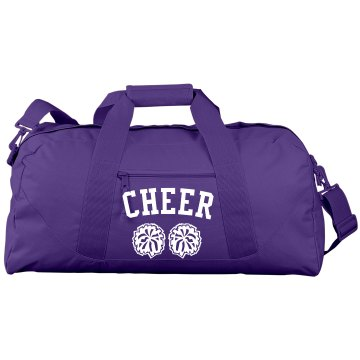 Rhinestone Cheer Bag Port & Company Large Square Duffel Bag