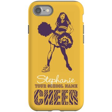 Cheerleading iPhone Case Rubber iPhone 4 & 4S Case Black
