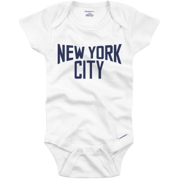 Baby Lennon Loves NY Infant Gerber Onesies