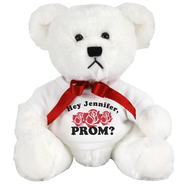 A Prom Bear Question Medium Plush Teddy Bear