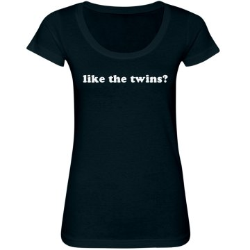Like the Twins? Junior Fit Bella Sheer Longer Length Scoopneck Tee