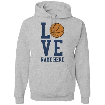 Basketball Love Unisex Gildan Heavy Blend Hoodie