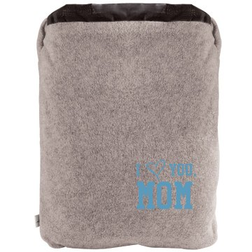 I Heart You, Mom Blanket 2-in-1 Poly Fleece Pillow Blanket 