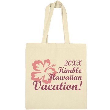 Kimble Hawaii Vacation Liberty Bags Canvas Bargain Tote Bag