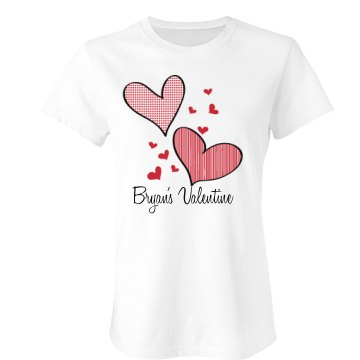 Custom Heart Tee Junior Fit Bella Sheer Longer Length Rib Tee